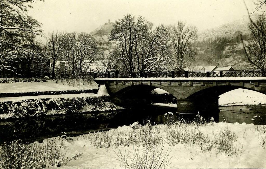 Die Stadtbrücke vor ihrer Zerstörung 1945
