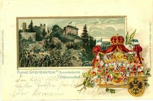 Burg Greifenstein vor 1900